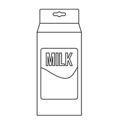 Milk icon outline style vector