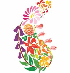 paisley flowers vector image vector image