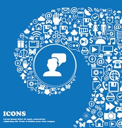 People talking icon sign Nice set of beautiful vector image