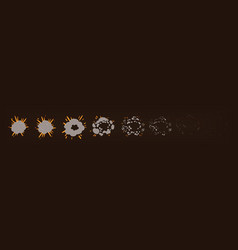 phases of the explosion animationspecial effects vector image vector image