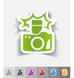 Realistic design element camera vector