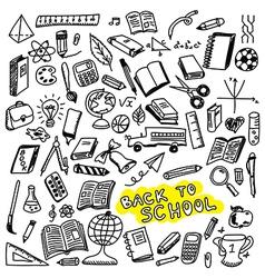 School icons sketch vector