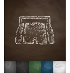 Shorts icon hand drawn vector