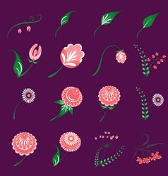 slavic folk traditional native floral ornament vector image
