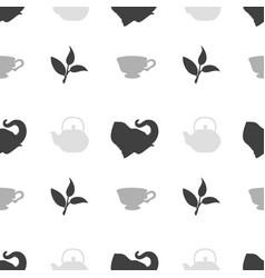 Tea shop seamless pattern vector