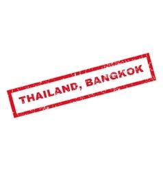Thailand bangkok rubber stamp vector