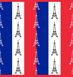 The eiffel tower seamless pattern vector