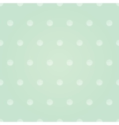 Vintage Mint Green Polka Dots Circles vector image