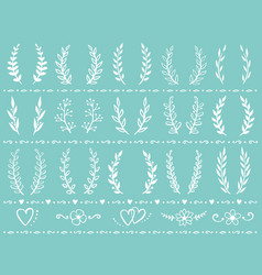 Vintage wreath set vector