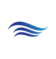 waves beach logo and symbols vector image
