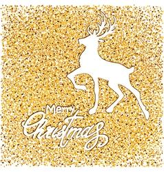 White deer on gold vector
