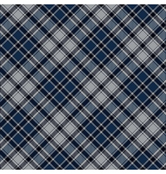 Blue diagonal plaid seamless fabric texture vector image