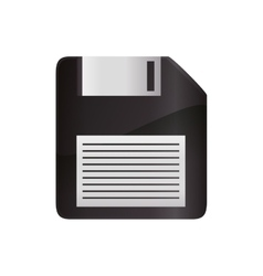 Diskette information technology icon vector