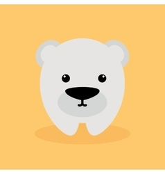 Cute cartoon polar bear vector