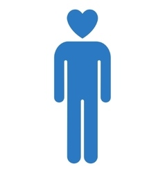 Lover man flat icon vector