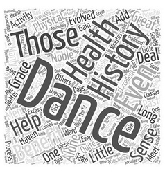 Dance to your health word cloud concept vector