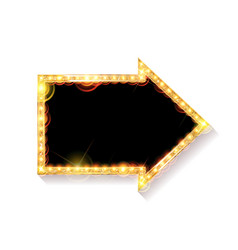 Glowing arrow on white background vector