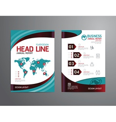 Brochure flyer magazine cover booklet poster vector