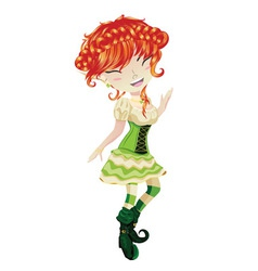 Cute Leprechaun Girl2 vector image
