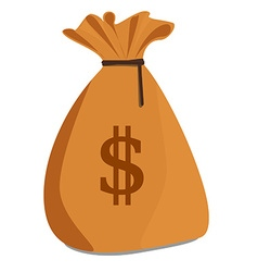 Brown money sack vector