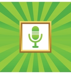 Microphone picture icon vector