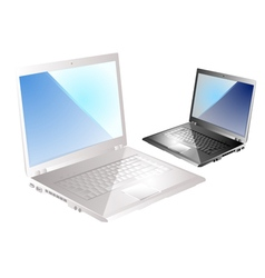 Two laptop vector
