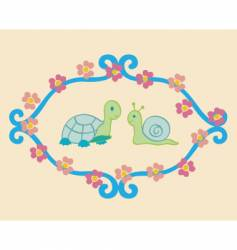 Turtle and snail vector