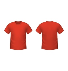 Realistic red t-shirt vector