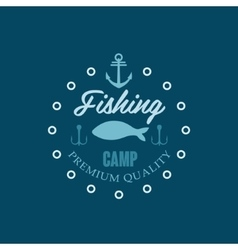Fishing camp logo vector