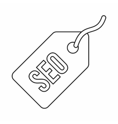 Seo tag icon in outline style vector