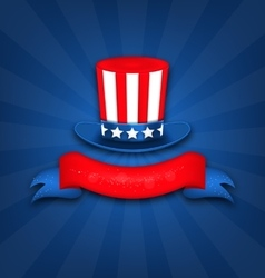 Abstract background with uncle sam hat vector
