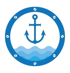 anchor porthole vector image