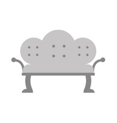 Antique sofa isolated icon vector