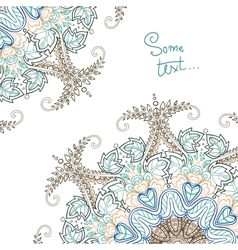 Background for text with floral ornament vector image