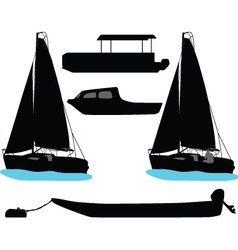 Boat and yacht vector