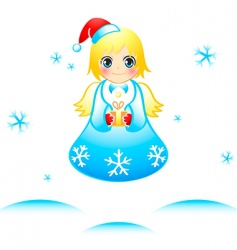 Christmas angel vector image vector image