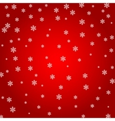 Christmas background White snowflakes on a red vector image