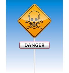 Danger skull traffic vector image vector image