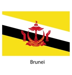 Flag of the country brunei vector image