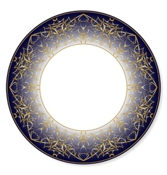Gold circular pattern on a blue background vector