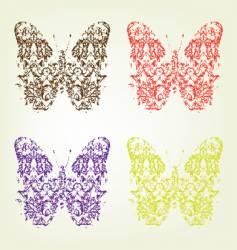 Grunge butterfly vector