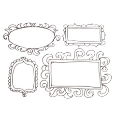 Hand drawn felp-tip pen frames vector image vector image