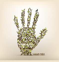 hand tree art vector image