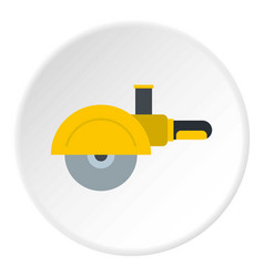 High speed cut off machine icon circle vector