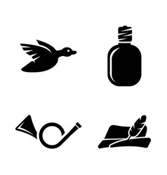 hunt simple related icons vector image vector image