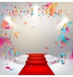 Illuminated stage podium EPS 10 vector image