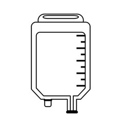Iv bag healthcare related icon image vector