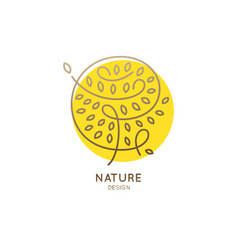 logo abstract tree yellow vector image vector image