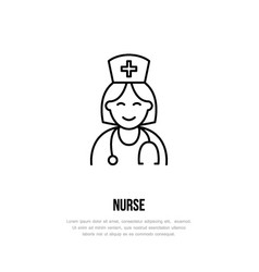 modern line icon of nurse gynecology vector image vector image