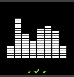 music equalizer it is white icon vector image